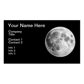 Full Moon Lunar Planet Globe Pack Of Standard Business Cards