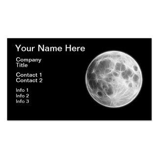 Full Moon Lunar Planet Globe Pack Of Standard Business Cards