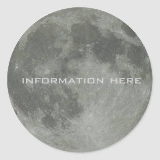 Full Moon Lunar Space Night Sky Orbit Round Sticker
