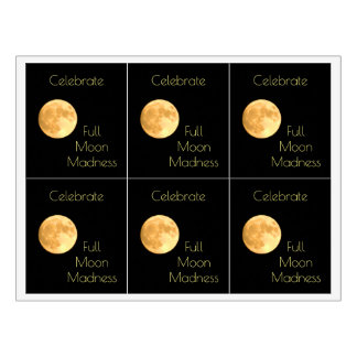 Full Moon Madness Party Celebrate Wine Labels