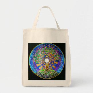 Full Moon Mandala Tote Bag