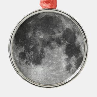 Full moon metal ornament