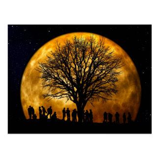 Full Moon Midnight Postcard