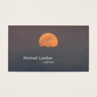 Full Moon Monogram Business Profile Card