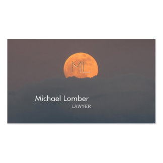 Full Moon Monogram Business Profile Card Pack Of Standard Business Cards
