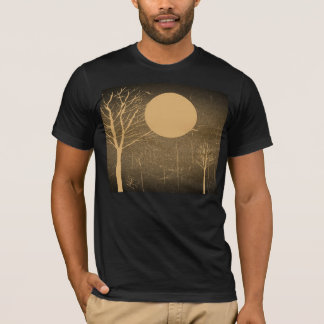 Full Moon Night and Tree - Vintage T-shirt