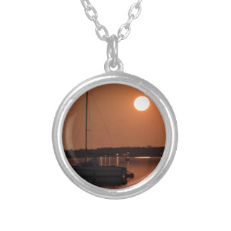 Full Moon of November 2016 Silver Plated Necklace