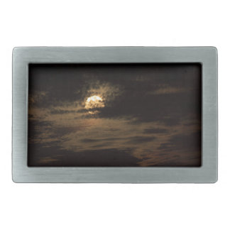 Full Moon of November hiding in the clouds Belt Buckle