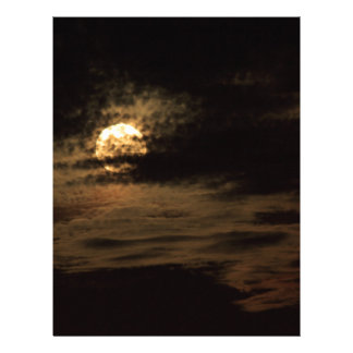 Full Moon of November hiding in the clouds Letterhead
