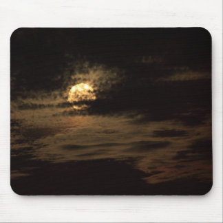 Full Moon of November hiding in the clouds Mouse Pad