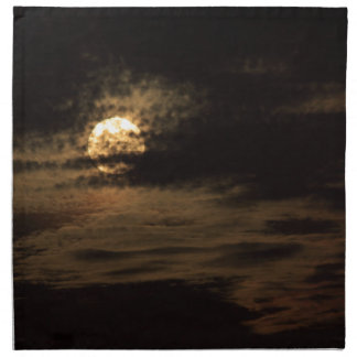 Full Moon of November hiding in the clouds Printed Napkins