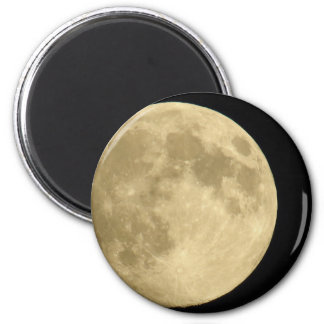 Full moon on black background 2 inch round magnet