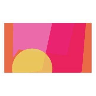 Full Moon Orange Business Card Template
