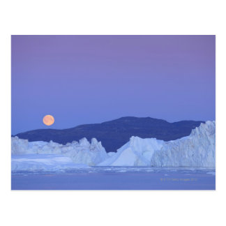 Full Moon Over Iceberg Postcard