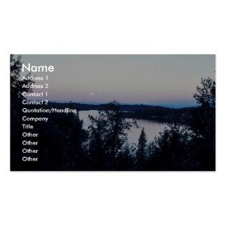 Full Moon over Nikiski Lake Business Card Templates