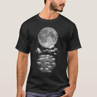 Full moon over the ocean T-Shirt
