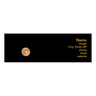 Full Moon Pack Of Skinny Business Cards