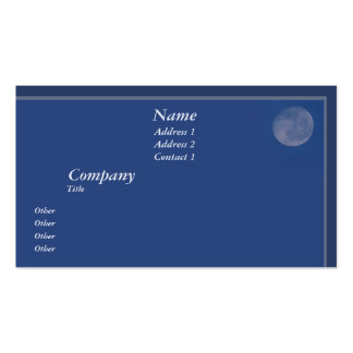 Full Moon Pack Of Standard Business Cards