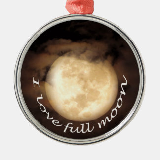 Full moon party in Koh Phangan Silver-Colored Round Ornament