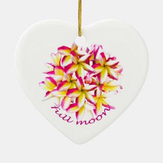 Full Moon party Koh Phangan Ceramic Heart Ornament