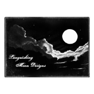 Full Moon Photo Cards Large Business Card