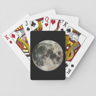 Full Moon Photography Playing Cards