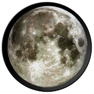 Full Moon Porcelain Plate
