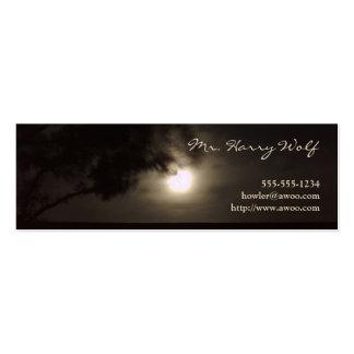Full moon profile card mini business card