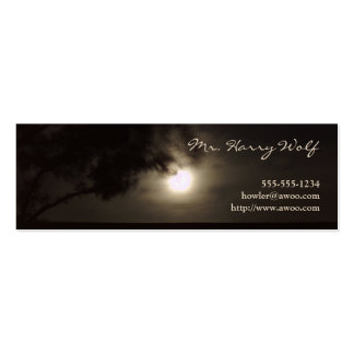 Full moon profile card pack of skinny business cards