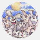 Full Moon Rabbits Sticker