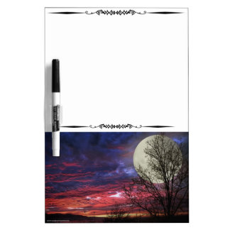 Full Moon Red Sky Decorative Dry Erase Board