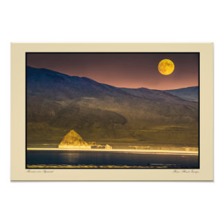 Full Moon Rise above Pyramid Photo Print