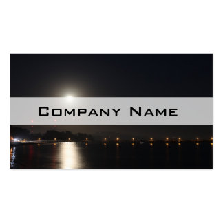 Full Moon Rise Business Card