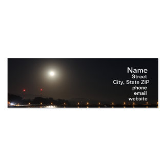 Full Moon Rise Pack Of Skinny Business Cards