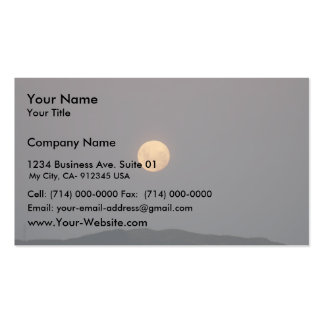 Full Moon Rising At Evening Business Card Templates
