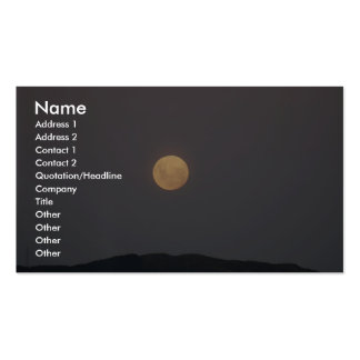 Full Moon Rising At Evening Business Cards