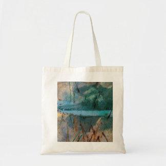 Full Moon Rising: Organic, magical painting. Tote Bag