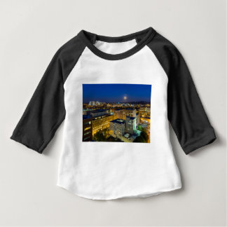 Full Moon Rising over Portland OR Downtown Baby T-Shirt