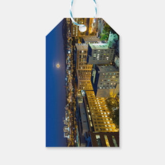 Full Moon Rising over Portland OR Downtown Gift Tags