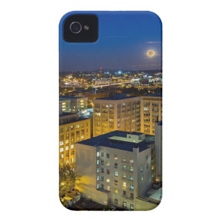 Full Moon Rising over Portland OR Downtown iPhone 4 Covers