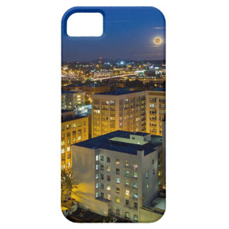 Full Moon Rising over Portland OR Downtown iPhone 5 Case