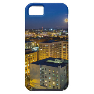 Full Moon Rising over Portland OR Downtown iPhone 5 Cover