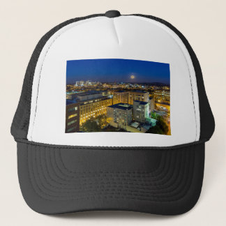 Full Moon Rising over Portland OR Downtown Trucker Hat