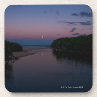 Full Moon rising over  Wattamolla Beach in the Drink Coaster