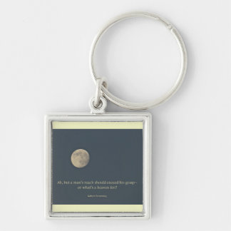 Full Moon Robert Browning Quote Keychain