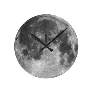 Full moon round clock