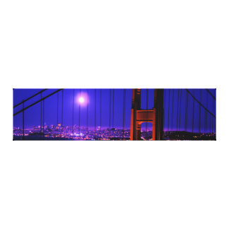 Full moon San Francisco Golden Gate Bridge Canvas Print