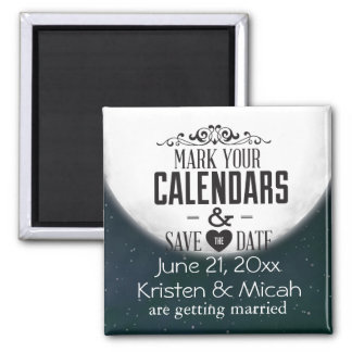 Full Moon Save the Date Magnet