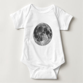Full moon seen with telescope baby bodysuit