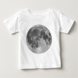 Full moon seen with telescope baby T-Shirt